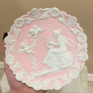 Vintage angel cherub pink wall art